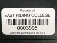 CUSTOM MADE ANODISED ALUMINIUM ASSET LABELS