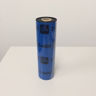 ZFR-110mm X 74m Zebra Resin Thermal Transfer Ribbon Ink Out